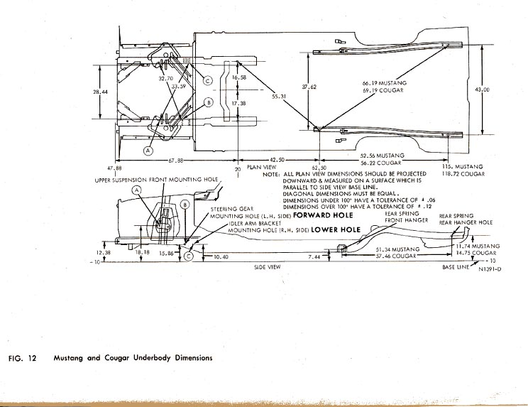 u0026 39 68 mustang chassis measurements alignment document pdf file