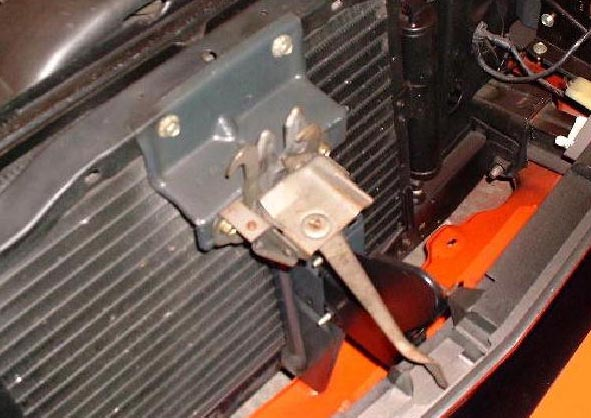 how to change a snow mobile hood latch